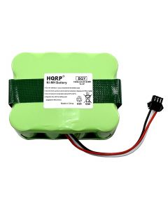 HQRP Battery for bObsweep Bobi Classic, BObi Pet Robotic Vacuum Cleaner, 00 Series, OO Series 017144-TN, BQBS1000, BQBS1003 + Coaster