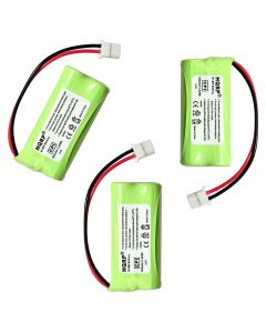 HQRP Phone Battery 3-Pack for ATT LUCENT CL82550 CL82600 EL52100 CL82400 CL82450 CL82500 Cordless Telephone + Coaster