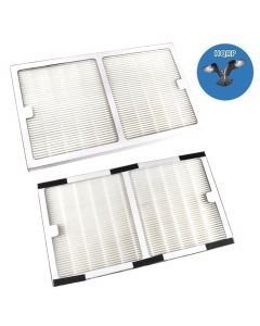 HQRP 2-pack HEPA Filter for Idylis Type C parts IAF-H-100C / 0412555 Replacement fits Idylis IAP-10-200 & IAP-10-280 Air Purifiers + HQRP Coaster