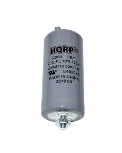 HQRP 200uF 125V Run Capacitor for AC Electric Motor Start HVAC Blower Compressor Pump 200MFD CD60 plus HQRP Coaster
