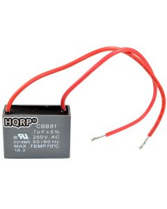 HQRP Capacitor for Hampton Bay Ceiling Fan CBB61 7uf 2-Wire plus HQRP Coaster