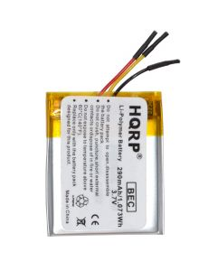 HQRP Battery for Sandisk Sansa Clip Zip 4gb 8gb MP3 Player Replacement 303038P + Coaster