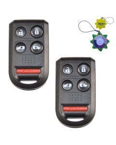 HQRP 2-Pack Keyless Entry Fob Remote Shell Case w/ 5 Buttons for Honda Odyssey 2005 2006 2007 2008 2009 2010 plus HQRP UV Meter