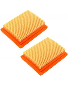 HQRP 2-pack Air Filter compatible with ZENOAH 848H7083F1 fits Zenoah BCZ4500DL BCZ4500DW BCZ4500CL BCZ5000DL BCZ5000DW BCZ5000CL Trimmer Brush Cutters GZ45N GZ50N Engine plus HQRP UV Meter