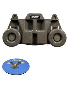 HQRP Wheel for Whirlpool W10195416 W10195416V AP5983730 PS11722152 BLB14DRANA5 GLB14BBANA0 WDF560SAFB0 WDF750SAYB0 WDF760SADB0 WDF760SADM3 WDF760SADT0 Dishwasher Dishrack Roller Dish Rack + Coaster
