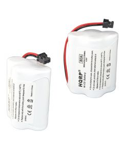 HQRP 2-Pack Battery for Uniden SPORTCAT SC-150 SC150 SC-140 SC140 Scanner plus HQRP Coaster