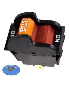 HQRP On-Off Toggle Switch for Dewalt Rockwell Hitachi Reliant Performax Dayton Jet Craftsman OR90037 OR9OO37 0R90037 Power Tools Planer Band Saw Drill Press Table Saw Grinder Sander + Coaster