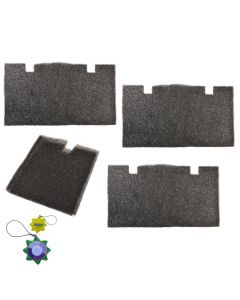 HQRP 4 pcs Air Filter for Dometic Duo Therm 620412 620415 620425 620426 520300 520310 520315 520316 530515 530516 Series Roof-Top Air Conditioners & Heat Pumps + HQRP UV Meter