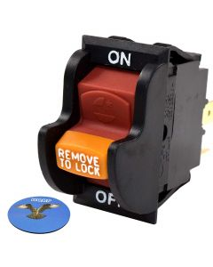 HQRP On-Off Toggle Switch for Ryobi 080900062530 BD46023 080900062522 BD4600 BD4601 BD4601G Sander + Coaster