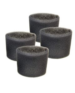 HQRP 4-pack Foam Filter Sleeve works with Shop-Vac 3150 3200 3225 3332 3332.5A 3332.5B 333-80-27 3333.5 3333.OH 3334 Wet Dry Vac Vacuums