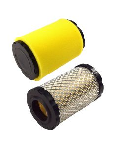 HQRP 2-pack Air Filter with Foam Pre-Filter compatible with Briggs & Stratton 796031 797704 594201 591334 5421 5428 5428K 590825 Replacement plus HQRP UV Meter