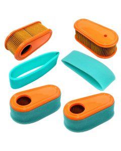 HQRP 4-pack Air Filter Kit (Cartridge w/ Pre-Cleaner) for Briggs & Stratton 121Q02 121Q06 121Q07 121Q12 121Q42 121Q72 121R02 121R05 121S02 121P05 121505 series Engine + HQRP Coaster
