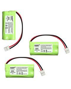 HQRP Phone Battery 3-Pack for ATT LUCENT CRL32102 CRL32452 TL88102 TL88202 CRL32202 CRL32302 CRL32352 TL86009 Cordless Telephone + Coaster