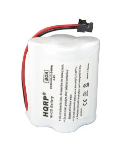 HQRP Battery for Uniden BEARCAT SPORTCAT BP-180 BP180 BP-250 BP250 BBTY0356001 Replacement plus HQRP Coaster