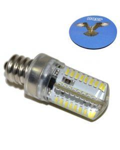 "HQRP 7/16"" 110V LED Light Bulb Warm White for Bernette MO234 / MO334 / MO335 Sewing Machine plus HQRP Coaster"