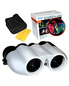 HQRP 8x21 UCF Porro Prism White Binoculars for Musical Show Concerts Fairs Festival Circus Parades Outdoor Races Back Row of Auditorium