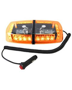 HQRP 24 LED HIGH POWER Mini Light Bar Amber Warning Strobe w/ Magnetic Base for Forklift / Off-Highway Truck / Trailers + HQRP Coaster