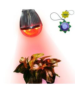 HQRP New Bulb E26 Base Indoor Garden LED Spot Light for Flowering Stimulate 7 Red 660 nm LED 7W 90V - 260V + UV Tester