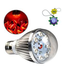 HQRP 7W Hydroponic Spot LED Red E26 Bulb Grow Light for growing Flowers, Roses, Tulips, African Violets, Poinsettas, Fruit Plants + UV Tester