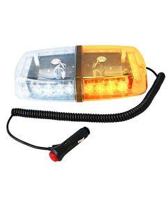 HQRP 24 LED Amber / White Strobe Beacon Emergency Warning Flash Light Mini Bar w/ Magnetic Base + HQRP Coaster