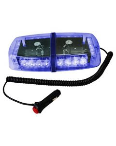 HQRP 24 LED Blue Strobe Beacon Emergency Warning Flash Light Mini Bar w/ Magnetic Base + HQRP Coaster