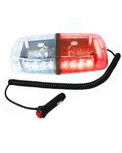 HQRP 24 LED Red / White Strobe Beacon Emergency Warning Flash Light Mini Bar w/ Magnetic Base + HQRP Coaster