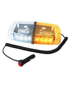HQRP 24 LED Amber / White Strobe Safety Lighting Hazard Flashing Light for Car Truck Trailer + HQRP Coaster