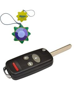 HQRP Uncut Remote Flip Folding Key Fob Shell Case Keyless Entry Modify w/ 4 / 3+1 Buttons for Honda CR-V 1997 1998 1999 2000 2001 2002 2003 2004 97 98 99 00 01 02 03 04 plus HQRP UV Meter