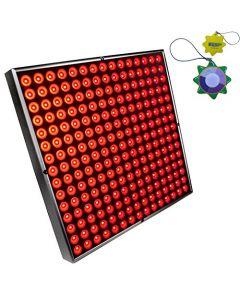HQRP Powerful Square Red 225 LED Grow Light Panel 45W for Growing Indoor Flowers, Plants, Fruits, Vegetables plus Hanging Kit + HQRP UV Meter