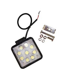 HQRP Square 27W 9 LED Waterproof Flood Beam Worklight for Back up Light / Off Road Lighting / Boat Lighting + HQRP Coaster