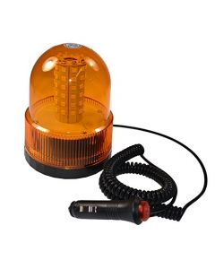 HQRP Magnetic Base Emergency Amber Strobe Mini Lightbar / Dome Beacon Flash Truck Car Tow Plow Auto Safety plus HQRP Coaster