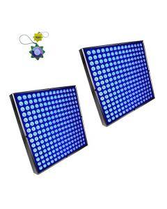 HQRP 90 Watt 450 LED Blue Indoor Garden Hydroponic Plant Grow Light Panels with Hanging Kit + HQRP UV Meter