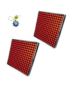 HQRP 90W 450 LED Red Spectrum Indoor Garden Hydroponic Plant Grow Light Panels / Lamps with Hanging Kit + HQRP UV Meter