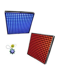 HQRP 90 Watt 450 LED Blue + Red Indoor Garden Hydroponic Plant Grow Light Panels with Hanging Kit + HQRP UV Meter