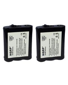 HQRP 2- Pack Phone Battery for Panasonic KX-TG2217, KX-TG2219, KX-TG2222, KX-TG2227, KX-TG2227G, KX-TG2236, KX-TG2237 + HQRP Coaster