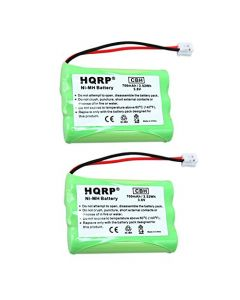 HQRP 2-Pack Phone Battery for VTech i6727, i6757, i6763, i6765, i6767, i6773 Cordless Telephone + HQRP Coaster