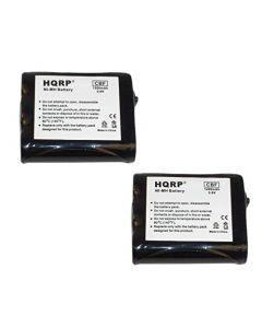 HQRP 2- Pack Phone Battery for Panasonic KX-TG2267S, KX-TG2287, KX-TG2700S, KX-TG2730, KX-TG2730CS, KX-TG2730S + HQRP Coaster