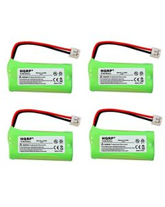 HQRP 4-Pack Phone Battery for AT&T Lucent SL82518, SL82558, SL82618, SL82658 + HQRP Coaster