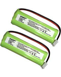 HQRP 2-Pack Phone Battery for VTech LS62152, LS62153, LS62252, LS62253, LS62254, LS62255 + HQRP Coaster