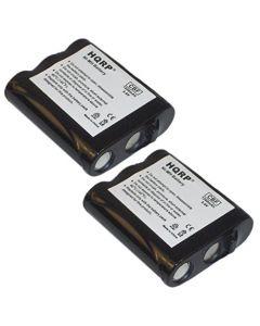 HQRP 2- Pack Phone Battery for Panasonic KX-FPG371, KX-FPG376, KX-FPG377, KX-FPG378BR, KX-FPG381, KX-TG2205 + HQRP Coaster