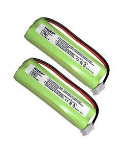 HQRP 2-Pack Phone Battery for Energizer ER-P241, ERP241; Interstate Batteries ATEL-0049, TEL-0049 + HQRP Coaster