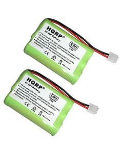 HQRP 2-Pack Phone Battery for RCA Visys 25110 Cordless Telephone + HQRP Coaster
