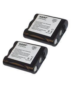 HQRP 2- Pack Phone Battery for Panasonic HHR-P402 / HHR-P402A / HHR-P402A/1B / P-P511 / P-P511A / PQPP511SVC + HQRP Coaster
