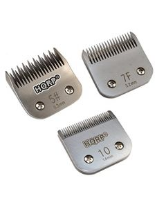HQRP 3pcs Kit: Clipper Blades - Sizes 5 / 7F /10 - for Dog Grooming Clipping Trimming - Scottish / Airedale & Welsh Terrier, Miniature Schnauzer, Bedlington Terrier etc. + HQRP Coaster