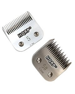 "HQRP 2pcs Set Pet Clipper Blades - Size 5 + 5FC - for Body work on Sporting Breeds and Terriers, Pet Poodles, etc., 1/4"" 6.3mm + HQRP Coaster"