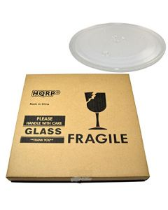HQRP 10-inch Glass Turntable Tray for Panasonic A0601-1000AP A0601-1000 NN4455A NN4461A NN4471A NN4493A Microwave Oven Cooking Plate 255mm + HQRP Coaster