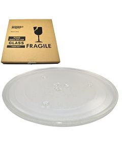 HQRP 10-inch Glass Turntable Tray for GE WB49X688 AP2031688 261828 AH250257 EA250257 PS250257 WB49X0688 JE635WC02 JE635WC03 JE635WW01 JE635WW02 Microwave Oven Cooking Plate 255mm + HQRP Coaster