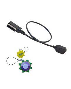 HQRP Media Interface USB Cable for Mercedes-Benz ML-Class W164 MY10 W166 ML350 ML500 BlueEFFICIENCY ML350 BlueTEC ML63 AMG (MY11 MY12) + HQRP UV Meter