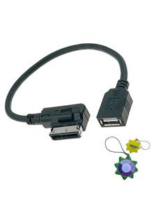 HQRP Media Interface USB Cable for Mercedes-Benz CLS-Class W218 W219 CLS550 MY09 MY10 MY11, Adapter Flash Drive MP3 + HQRP UV Meter