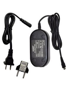 HQRP AC Adapter for Canon VIXIA HF-R800, HF-R82, HF-R80 Camcorder Charger Power Supply Cord + Euro Plug Adapter